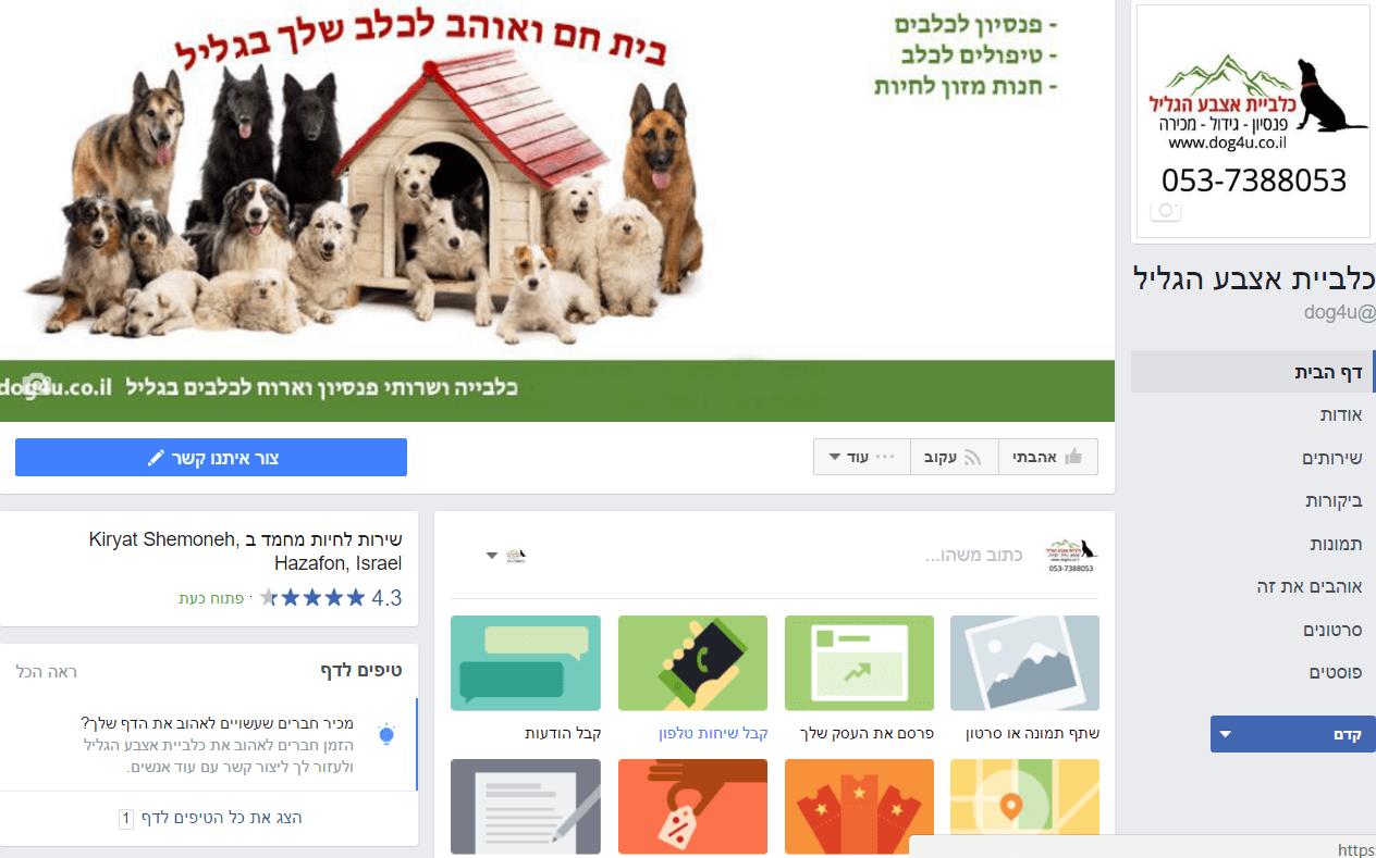 ניהול עמודי פייסבוק לעסקים