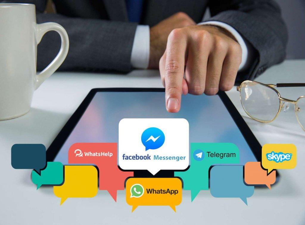 צ'ט באתר באמצעות ווצאפ, פייסבוק מסנגר, טלגרם ועוד